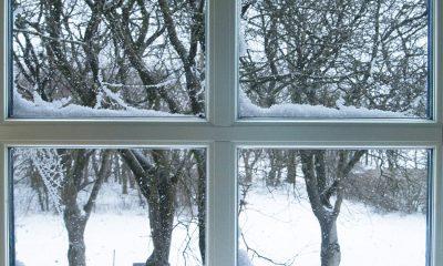 Billede af vindue med sne